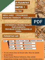 PPT Ilmu Dan Filsafat