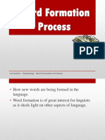 Word Formation Process
