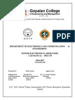 Power Electronics Laboratory Manual 10ECL78
