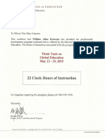 Harvard Confirmation of Attendance (22 Clock Hours) William Allan Kritsonis, PhD