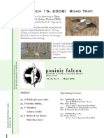 Mar 2008 Prairie Falcon Northern Flint Hills Audubon Society