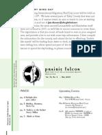 May 2008 Prairie Falcon Northern Flint Hills Audubon Society