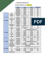 Calendário de Provas Bimestrais 2017-2 Noturno
