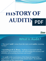 Auditing History