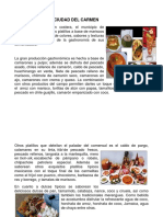 Gastronomia y Valores de Ciudad Del Carmen