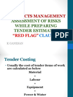 Assessment of Tender Risks - Red Flag Clauses