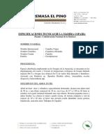 Especificaciones Copaiba g