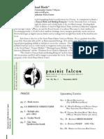 Nov 2008 Prairie Falcon Northern Flint Hills Audubon Society