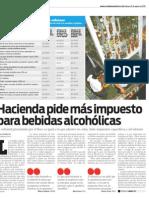Cuadro comparativo sobre impuesto a bebidas alcohólicas en El Salvador