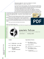 July-Aug 2009 Prairie Falcon Northern Flint Hills Audubon Society