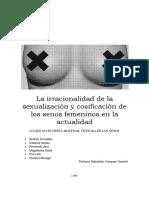 La Irracionalidad de La Sexualización y Cosificación de Los Senos Femeninos en La Actualidad