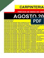 Precio mano de Obra en Carpinteria. DEMO AGOSTO-2015  CARPINTERIA.xls