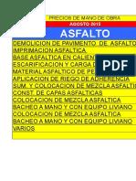Precio mano de Obra en Asfalto. DEMO AGOSTO-2015  ASFALTO.xls