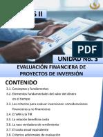 3. Evaluación Financiera de Proyectos de Inversión 1