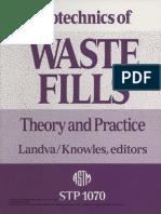 Geotechnics of Waste Fills