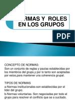 Normas y Roles en Los Grupos