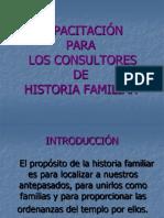Capacitación Para Consultores de Historia Familiar