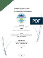 Financiamiento de Multinacionales - Apalancamiento