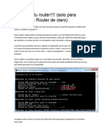 Accede a Tu Router Claro Guatemala