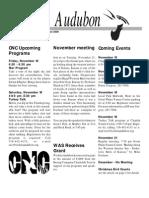 Nov-Dec 2000  Wichita Audubon Newsletter