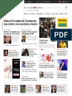 UOL Motins Em 34 Cadeias Contra RDD de Liderenças de Facção