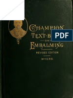 The Champion Text Book on Embalming 1908