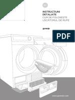 Manual de utilizare uscator de rufe Gorenje D98F65F