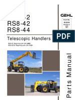 RS6-42 (SN 14501 - 14550), RS8-42 RS8-44 (SN 17101 - 17150) Telescopic Handler Parts Manual, 913319