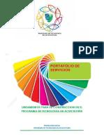 Portafolio de Servicios 2017 Lineamientos