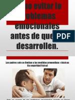 Como Evitar Lo Problemas Emocionales