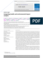 Integrating Health and Enviromental Impact Analysis