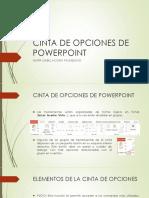 Cinta de Opciones de Powerpoint