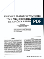APPLE, Michael W. Ensino e trabalho feminino uma análise comparativa da história e ideologia