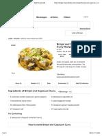 Brinjal and Capsicum Curry Recipe