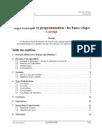 Algo1 Apad 2012 s1 Cours Algo Corrige