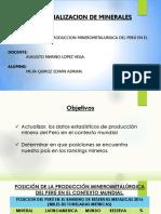 POSICIÓN MINERO METALÚRGICA DEL PERI EN EL CONTEXTO MUNDIAL 2016-2017