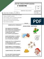 AVALIACAO DE LP 3 BI - 1 ANO.docx