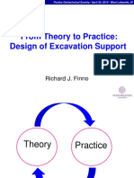From Theory to Practice Design of Excavation Support