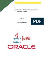 Taller 3 - Conexion Base de Datos - Modelo-Vista-controlador -Jcalendar-jtable