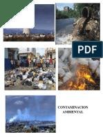 Contaminacion Ambiental y Fenomenos Antropicos