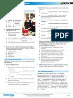 B2+ UNIT 9 Flipped classroom video worksheet