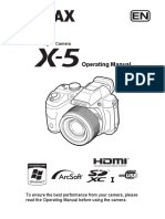 PENTAX X-5 Operating Manual