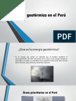 Energía Geotérmica en El Perú