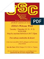 EDSA Welcome Week Flier 8-31 to 9-2 2010