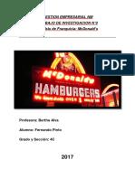 Trabajo de Analisis de MacDonalds como empresa