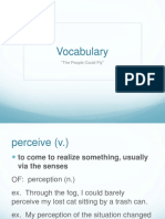 vocabulary the people could fly