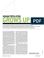 human population grows up