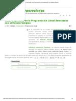 Casos Especiales en La Programación Lineal Detectados Con El Método Simplex