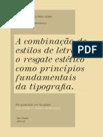 A combinação de estilos de letras e o resgate estético como princípios fundamentais da tipografia - Érico Lebedenco
