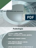 Curs 1 PE Obiectul Psihologiei Educatiei. Personalitatea Cadrului Didactic